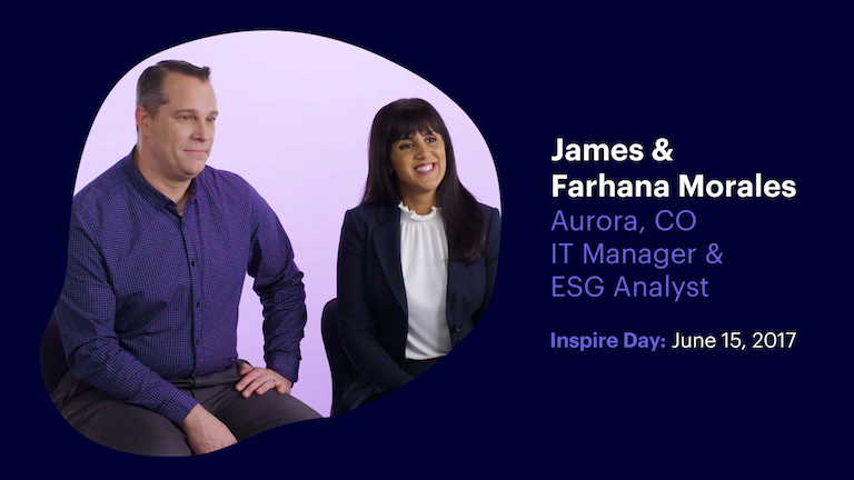 IT Manager and E. S. G. Analyst James and Farhana Morales of Aurora Colorado
