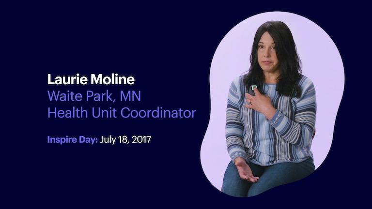 Health Unit Coordinator Laurie Moline of Waite Park Minnesota