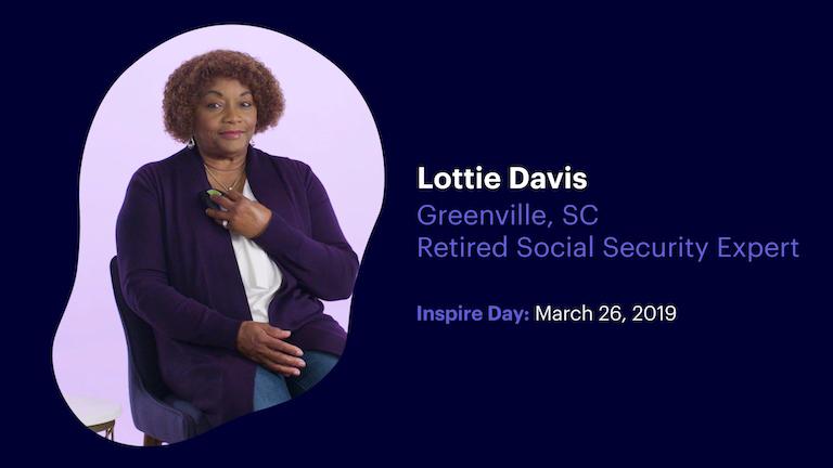 Retired Social Security Expert Lottie Davis of Greenville South Carolina